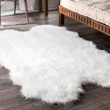 Modern White Rugs Brilliant White Fluffy Area Rug Rugs New Fuzzy Luxury Regarding