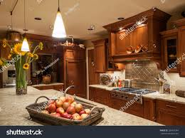 home kitchen island sink cabinets pendant stock photo 266497244