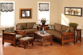 Living Room Simple Arrangement Simple Wooden Living Room Furniture