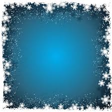 winter background with snowflakes in borders free vector