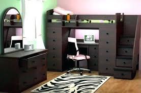 lit surélevé avec bureau lit mezzanine avec bureau integre lit mezzanine noir avec bureau