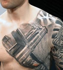 tattoo pictures of new york 60 brooklyn bridge tattoos for men new york city design ideas