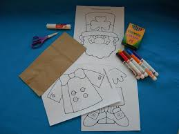 paper bag crafts lunchbag leprechaun supplies paper bag crafts