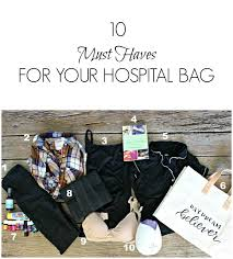 10 Must Haves For Your by 10 Must Haves For Your Hospital Bag Edition Book Design