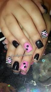pink black u0026 silver animal print by dana nailjunkie nail art
