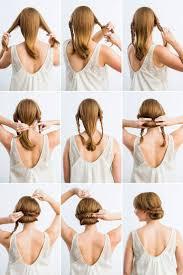 Hochsteckfrisurenen Zum Nachmachen Kurze Haare by Die Besten 25 Einfache Hochsteckfrisuren Ideen Auf
