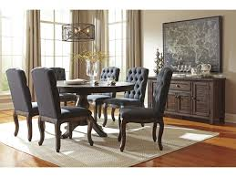 Ashley Dining Room by Ashley Signature Design Trudell Solid Wood Pine Round Dining Room