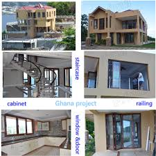 exterior stainless steel railing handrail balcony steel grill