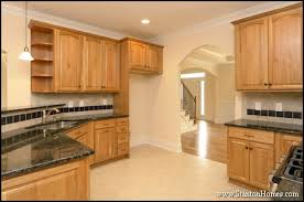 Countertops With Oak Cabinets Raleigh Custom Kitchen Color Trends Light Cabinets Dark Countertops