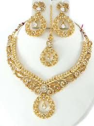 gold color necklace images Party wear jewellery designs costume necklace set online shopping jpg
