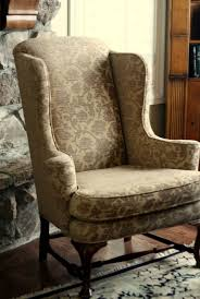 Slipcover Wing Chair Accessories Wing Back Chair Slip Cover Within Elegant Furniture