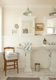 Bathroom Beadboard Ideas Colors Chair With Basket Of Towels Lovely Pink Bathroom With Pale