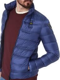 Us Kaufen Herren Winterjacken Blauer Usa Light Daunenjacke Mit Stehkragen