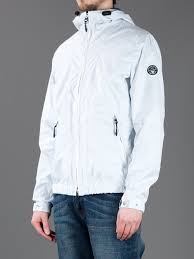 lightweight bike jacket armani jeans light weight hooded jacket in white for men lyst