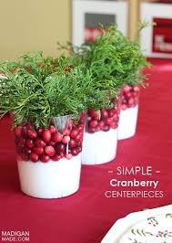 Homemade Christmas Floral Table Decorations by Best 25 Cranberry Centerpiece Ideas On Pinterest November 1st