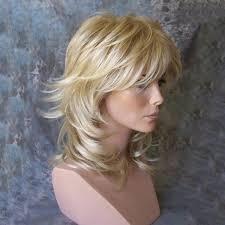 is long island medium hair a wig 2018 medium side bang tail upwards layered slightly curly human
