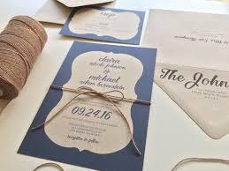 wedding invitations kraft paper sample ornate border kraft paper wedding invitation suite
