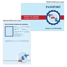 birthday party printable passport invitation planes trains and