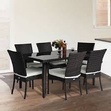 Patio Table And 6 Chairs Rattan Garden Furniture Dining Set Patio Rectangular Table 6