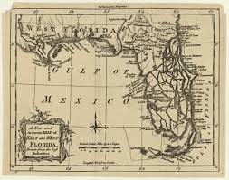 Map Of Florida And Alabama by Treaty Of Versailles 1783 With Spain