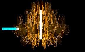 Black Traditional Chandelier Laser Cut Acrylic Shapes Outline Of A Traditional Chandelier Lit
