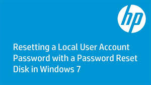 resetting battery windows 7 resetting a local user account password with a password reset disk