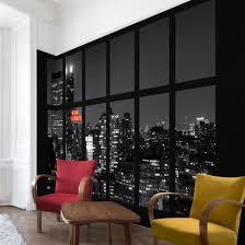 Esszimmer New York Fototapete New York Fenster New York Nacht Skyline Vliestapete