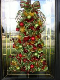 christmas wreath deco mesh curly christmas tree 95 00 via etsy