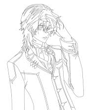 vampire knight kaname coloring pages sketch coloring page