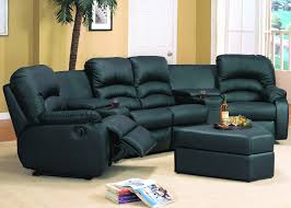 sofas etc ventura ventura reclining black or brown leather sectional u0026 ottoman home