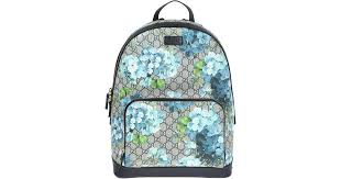 bloom backpack lyst gucci gg blooms backpack