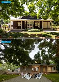 before and after from a wine country farmhouse to a stunning
