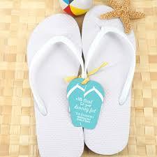 wedding flip flops wedding flip flops with personalized flip flop tag white set of