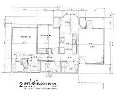 simple house blueprints with measurements