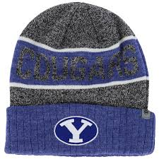 tow royal gray byu cougars cuffed knit cap
