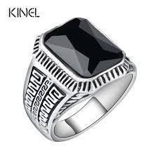men rings vintage men rings big black precious stones antique silver lover