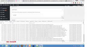 wp admin ajax live search not working in wordpress dashboard