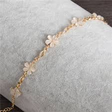 opal flower necklace images Women fashion bridal jewelry flower opal charm bracelets gold jpg