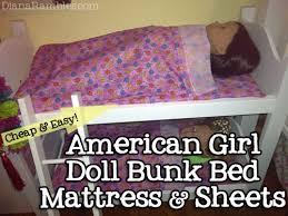 American Doll Bunk Bed American Doll Bunk Bed Mattress Sheets Diana Rambles