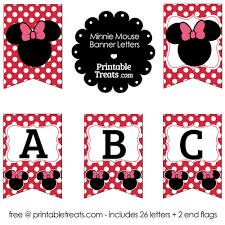 printable minnie mouse banner letters u2014 printable treats