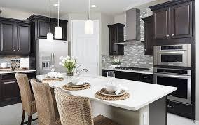 espresso kitchen cabinets with white quartz countertops white quartz countertops kitchen design ideas designing idea