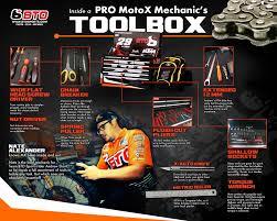 motocross bike breakers a sneak peek inside a team bto sports mechanic u0027s toolbox