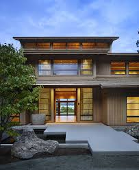japanese style home design with nice lighting and wooden floor