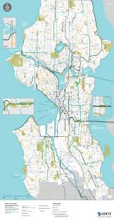 Seattle Monorail Map by Seattle Bike Map Chicago Map
