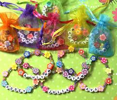 party favor bracelets kids personalized luau party favors flower bracelets