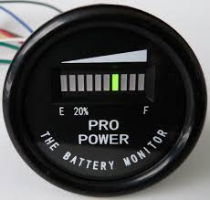 pro12 48m propower u0027s golf cart battery indicator meter ezgo yamaha