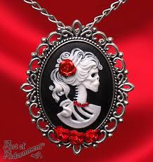cameo necklace pendant images Madam muerte rose skull cameo necklace pin by artofadornment on jpg