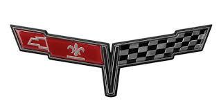 c3 corvette flags c3 corvette 1980 crossed flags nose emblem corvette mods