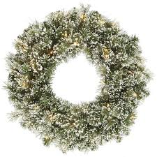vickerman 24 artificial frosted pine wreath