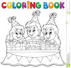 coloring book kids party theme 1 stock photos image 31871113